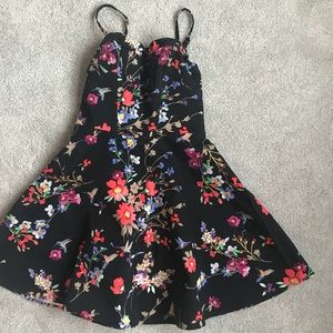 EXPRESS Floral Print Mini Summer Dress